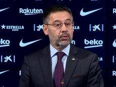 Bartomeu compareció tras dimitir. Captura/BarçaTV
