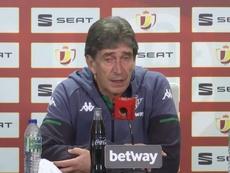 Pellegrini destacó la fuerza mental del Betis. Captura/RealBetisTV