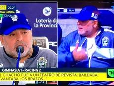 Maradona no dejó a nadie indiferente en rueda de prensa. Captura/TN