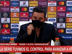 Gallardo habló tras el River-Paranaense. Captura/ESPN