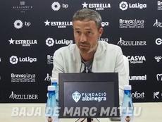 Óscar Cano avisó del Sporting y habló de la baja de Mateu. Captura/CastellónTV
