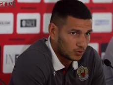 Rony Lopes no le echó nada en cara al Sevilla. Captura/OGCNice