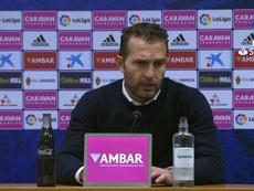 Baraja habló del descontrol del Zaragoza en la segunda parte. Captura/LaLiga
