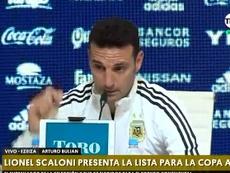 Scaloni habló sobre su lista. Captura/TNTSports