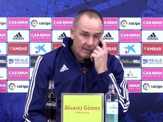 Víctor Fernández recordó el objetivo del Zaragoza. RealZaragozaTV