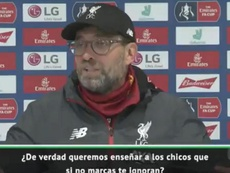 Jürgen Klopp defendió la importancia de todos sus jugadores. Captura/ASTV