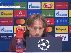 Modric en conférence de presse. Captura/RealMadridTV