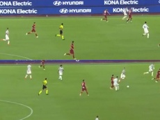 El debut de Morata: titularidad, cabalgadas... y un pase que acabó en meme. Captura