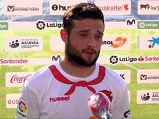 Arnaiz, feliz por darle los tres puntos a Osasuna. CAOsasuna
