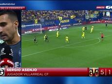 Asenjo, contento por los tres puntos del Villarreal. Captura/GolTV