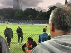 El argentino fue increpado en Montevideo. Twitter/Oleeonardo