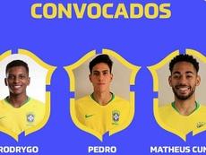 Rodrygo y Malcom, en la lista de la Selección Olímpica de Brasil. Captura/CBF