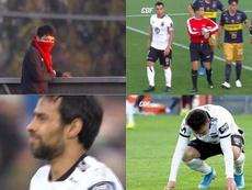 Lanzaron gas lacrimógeno durante el Colo Colo-Everton. Captura/CDF
