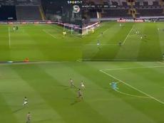 La vuelta nefasta de los porteros en Portugal: tres errores que costaron puntos. Capturas/SportTV