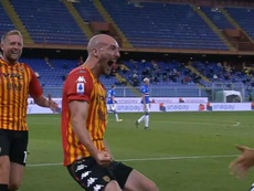 El Benevento remontó a la Sampdoria. Captura/beINSports