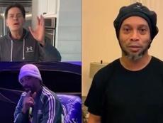 El vídeo que une a Maradona o Ronaldinho con Snoop Dogg y Charlie Sheen. Captura/U_D_Almeria