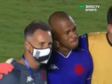 Lucao no pudo contener las lágrimas tras su error. Captura/DirecTVSports