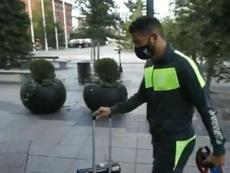 Luis Suárez se incorporó al Granada en Suecia. Captura/rmarcagranada