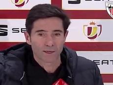 Marcelino valoró el trabajo de la UD Ibiza. Twitter/AthleticClub