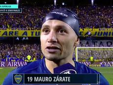Zárate explicó sus palabras y su enfado con Vélez. Captura/FoxSports