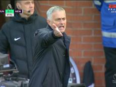 Mourinho perdió los papeles en Old Trafford. Captura/ESPN