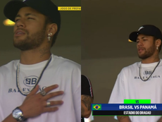 Neymar attended the match to watch his compatriots. Captura/SportTV1
