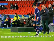 Moulin le pidió la camiseta a Neymar. Captura/CanalFootballClub