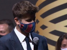 Piqué, récompensé par le prix du mérite sportif catalan. Captura/TV3