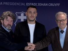 Rei Manaj could make his Barca B debut this weekend. Twitter/FCBarcelonaB