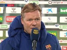 Koeman se marchó satisfecho con su equipo. Captura/BarçaTV