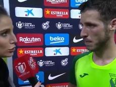 Rubén Pérez analizó la eliminación ante el Barça.  Captura/DAZN