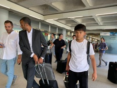Kubo has landed in Mallorca to join them on loan. Captura/RadioEstadio