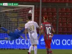 Así quedan el ascenso, el 'play off' y el descenso en la Serie B. Captura/DAZN_IT
