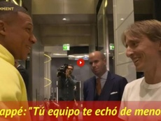 Mbappe did not let Modric forget the result of the PSG v Real Madrid game recently. Captura/ASTV