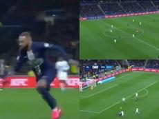 El sprint de Neymar que acabó en susto por posible lesión. Captura/FOXSports