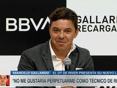 La petición popular de Gallardo a la afición de River. Captura/ESPN