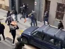 Cinco são detidos por briga entre torcedores de Espanyol e Athletic. Captura/Twitter