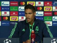 Varane said Real Madrid's aim is to win the Champions League. Captura/RealMadridTV