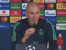 Il tecnico Zidane in conferenza stampa