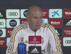 Zidane atendió a los medios en la víspera de visitar Son Moix. Captura/RealMadridTV