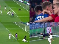 Le Real Madrid avait bien commencé son match. Captura/Movistar