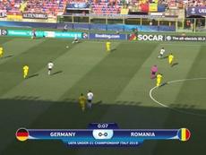 Alemania y Rumanía buscaron la final... ¡a 38 grados! Captura/Cuatro