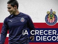 Chivas oficializa la cesión de Diego Hernández a San Luis.  Twitter/Chivas