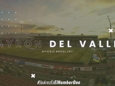 Del Valle leaves Millonarios and signs for Juárez. Twitter/fcjuarezoficial