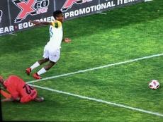 Zwane explicó su caño. Captura/SuperSportTV