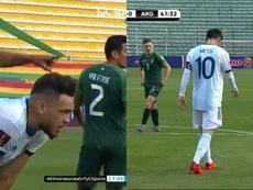 De Ocampos a Messi: Argentina sufrió la altura en La Paz. Captura/TyCSports
