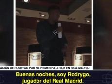 Rodrygo anotó un triplete en el 6-0 al Galatasaray. ASTV