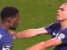 Pepe no admite niñerías: acabó a empujones con un compañero de equipo. Captura