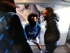 Neymar bem a vontade no Bernabéu. Captura/ESPN