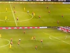 Veracruz estuvo parado cuatro minutos... ¡y Tigres marcó dos goles! Twitter/UnivDeportes